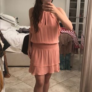 Parker salmon color mini dress